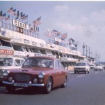 Le Mans 1963 – Lyndon Sims GT, enjoys a run, with others around the legendary circuit