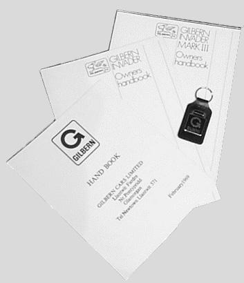 Reprinted handbooks  key fob