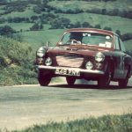 Prescott 2/6/1963 – Peter Cottrell in control of the first production GT