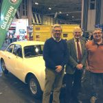 NEC 2016 - Steve Arnold, Victor Lobb and Duncan Kellett. Owners, of Mk1 GTs, the seventh, eighth and ninth Gilberns made.