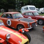 Wiscombe Park 4/9/2016 – Brian Gent & Colin McLatchie parked in the waiting area