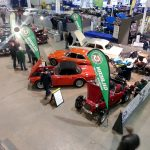 Royal Bath & West Showground GW Classic Car Show Feb 2017. Over view showing whole stand and members other cars.