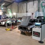 Royal Bath & West Showground, Restoration Show  Nov 2017. Pete Daye's MK2 under restoration, 'Arfa' car, the sectioned Genie, and Ian Latham's 'on the road' Mk2