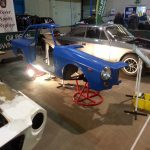 Royal Bath & West Showground, Restoration Show  Nov 2017. 'Arfa' car, the sectioned Genie, and Ian Latham's 'on the road' Mk2